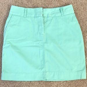 VINEYARD VINES size 6 green cotton A Line skirt
